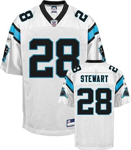 Jonathan Stewart Jersey  Reebok White Replica  28 Carolina Panthers Jersey  - Small 8c9160d26