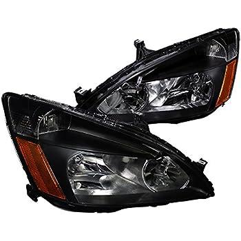 Spec-D Tuning 2LH-ACD03JM-RS Honda Accord Lx Ex Jdm Black Head Lights Lamps Pair