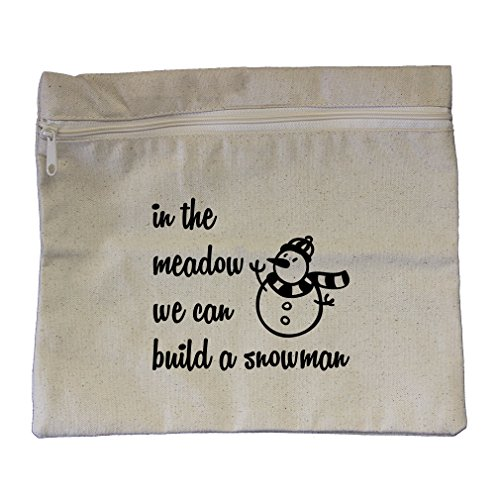(In The Meadow We Can Build A Snowman #2 Canvas Zippered Pouch Makeup)