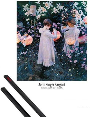 Amazon ポスター: John Singer Sargentポスター – カーネーション ...