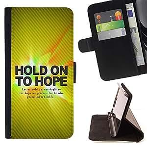 Momo Phone Case / Flip Funda de Cuero Case Cover - Hold On Hope BIBLIA; - LG G4c Curve H522Y (G4 MINI), NOT FOR LG G4
