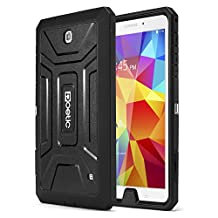 Poetic Revolution Heavy Duty Protection Hybrid Case with Screen Protector for Samsung Galaxy Tab 4 8.0  Black