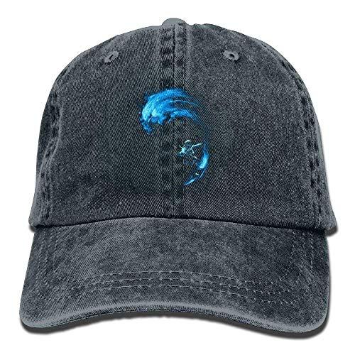 Gorras béisbol Blue Surfing Denim Hat Adjustable Female Washed Baseball Hat