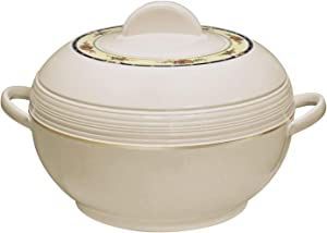 Tmvel Ambiente Insulated Casserole Hot Pot - Insulated Serving Bowl With Lid - Food Warmer (6000ml 6L, Beige)