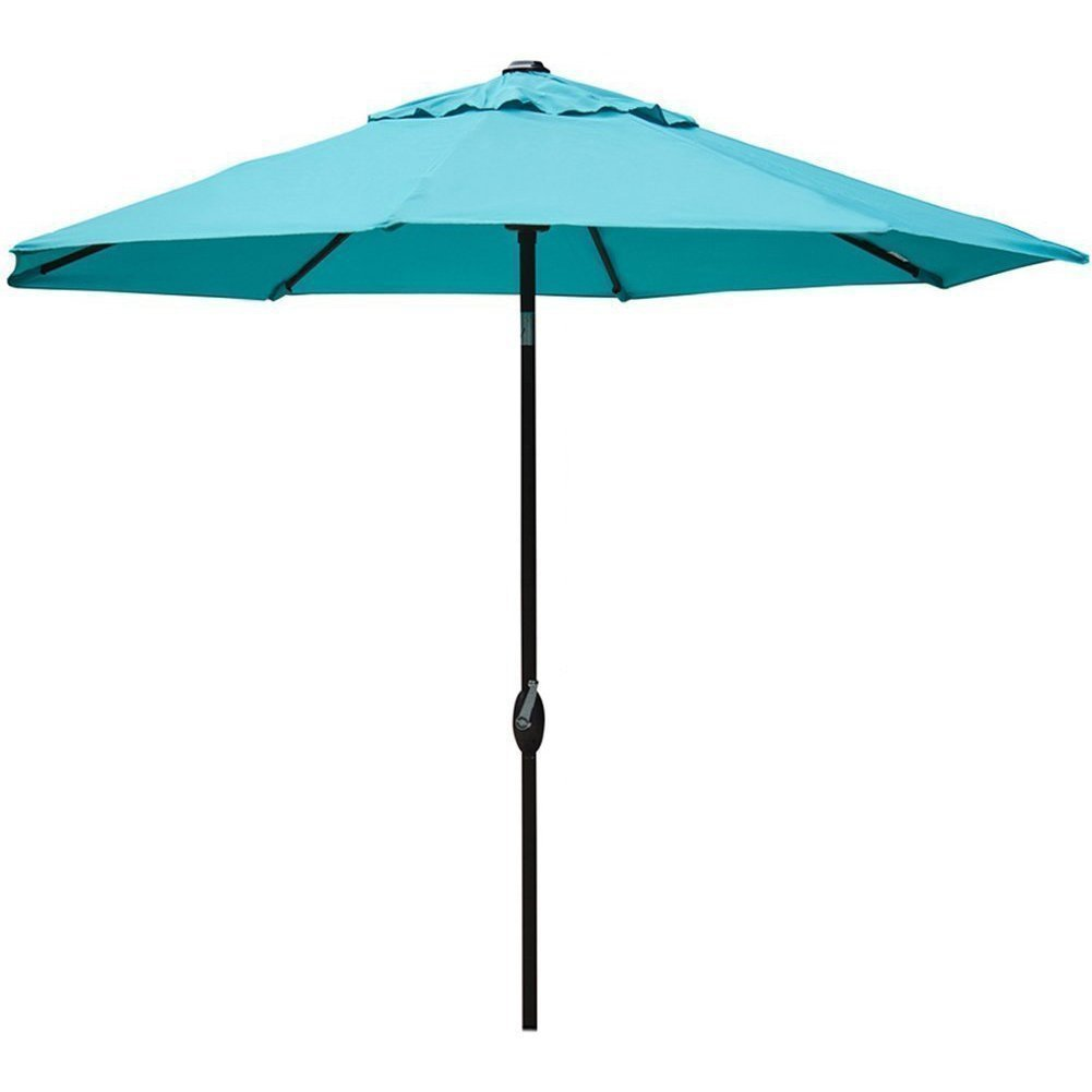 Lovely Amazon.com : Abba Patio 9u0027 Patio Umbrella Outdoor Table Market Umbrella  With Push Button Tilt/Crank, Turquoise : Patio, Lawn U0026 Garden