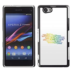 Espoir - Metal de aluminio y de plástico duro Caja del teléfono - Negro - Sony Xperia Z1 Compact / Z1 Mini (Not Z1)