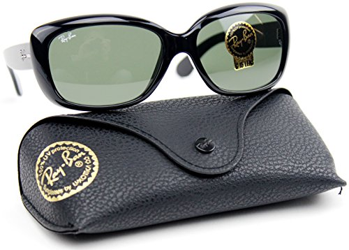 Ray-Ban RB4101 601 58mm JACKIE OHH Sunglasses Black / Crystal Green - Ray Ban Rb4101