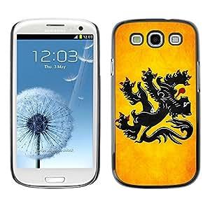 YOYO Slim PC / Aluminium Case Cover Armor Shell Portection //Flanders Grunge Flag //Samsung Galaxy S3