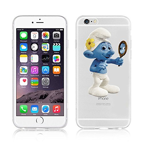 Disney Smurfs Transparent Clear TPU Soft Case For Apple iPhone 7 VANITY