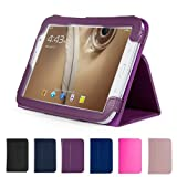 GMYLE Purple Premium Slim Folio PU Leather Stand Holder Case for Samsung Galaxy Note 8.0 Inch N5100 Tablet