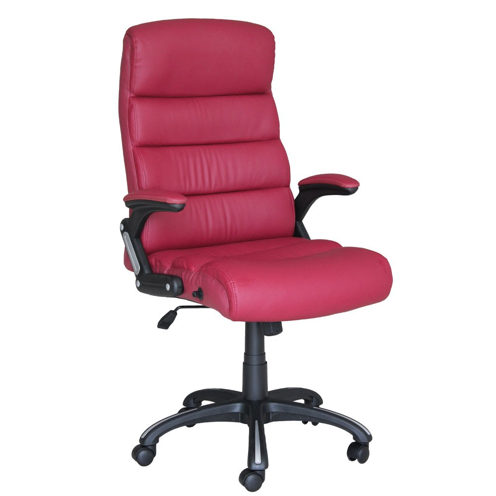 Glamour Reclining Office Chair Executive Home Computer Desk Recliner Chair Burgundy color 8902-D03