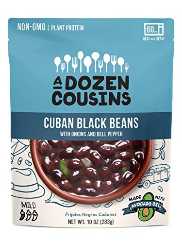 A Dozen Cousins, Black Beans Cuban Ready To Eat, 10 Ounce (Best Canned Beans To Eat)