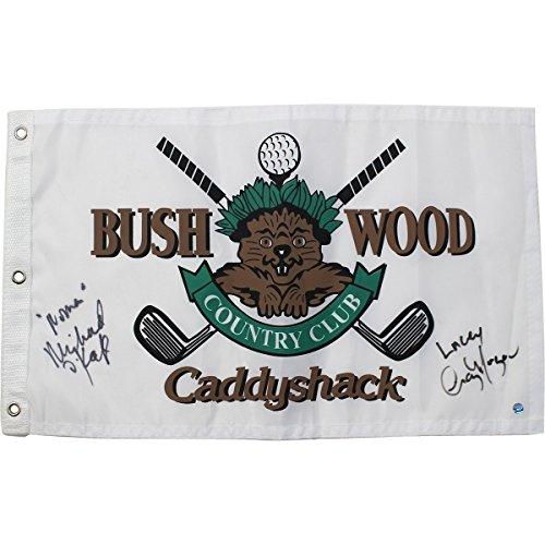- Cindy Morgan/Michael O'Keefe Dual Signed CaddyShack Golf Pin Flag w/