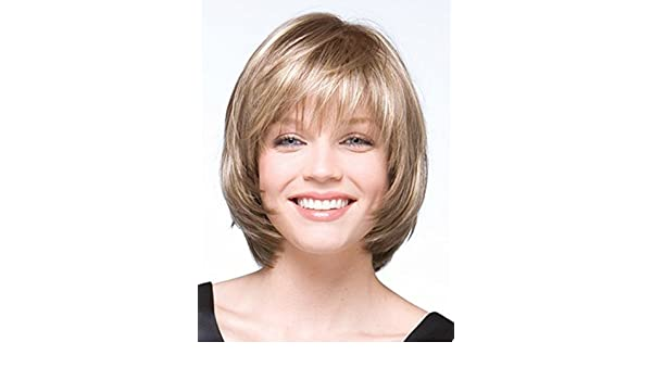 Amazon.com : 2015 Bob Short Straight Blonde Wig for Women Peluca Peruca Sexy Synthetic Hair Wigs Full Wig with Side Bangs Free Shipping (30cm/11.81inch, ...