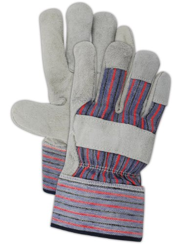 Cuff Gloves Leather Palm (Magid Safety DuraMaster TB727IE Glove | Leather Gloves with Cow Split Palm & Rubberized Safety Cuff - Large (12 Pairs))