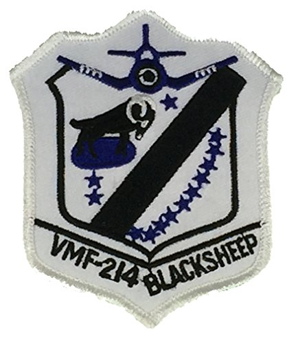 USMC VMF-214 BLACK SHEEP UNIT PATCH - COLOR - Veteran Owned Business