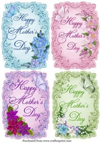 Set of 4 A6 Size mothers day toppers by Jan Fisher