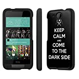 Htc Desire 520 Case, [NakedShield] [Black] Total Armor Protection Case - [Black Keep Calm Come to Dark Side] for Htc Desire 520