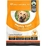 Only Natural Pet Dry Dog Food Canine PowerFood Formula - Made in The USA Paleo Inspired Formula with No Grain, Soy, Corn, Wheat or Oats - Red Meat Feast 22.5 lb Bag