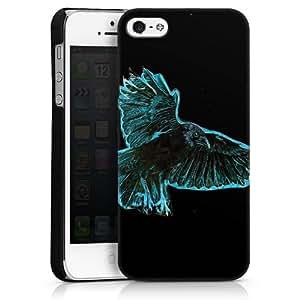 Carcasa Design Funda para Apple iPhone 5 HardCase black - Krähennacht