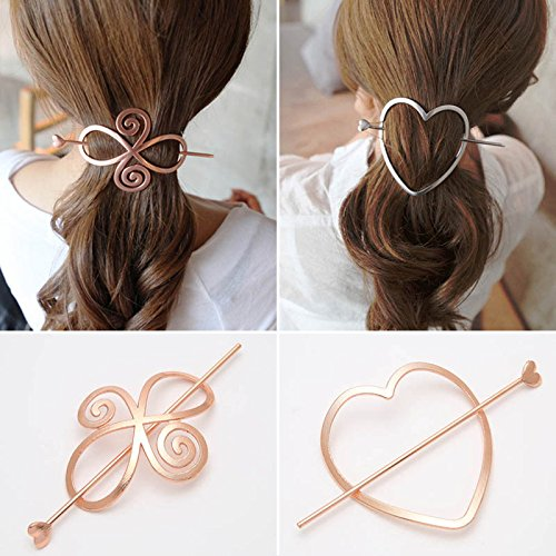 cuhair(tm) 2pcs Weihnachtsgeschenk Frauen Mädchen Haarspange Zubehör Spange Stift Kamm accessories