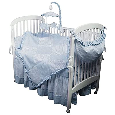 Hoohobbers 4-Piece Crib Bedding, Blue Sherbert from Hoohobbers