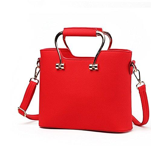 PU AVERIL Fashion Borse Bag Mano G borsa rosso Donna a a Designer Borsa Spalla pelle RS5d5qwCx