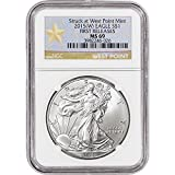 2015 (W) American Silver Eagle $1 MS69 - First Releases - West Point Star NGC