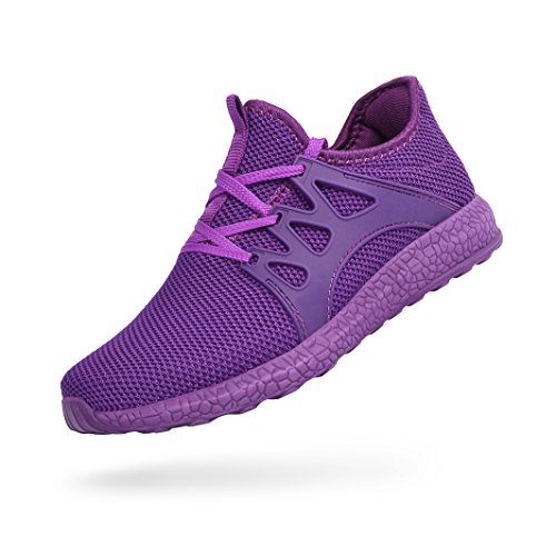 Feetmat Womens Sneakers Ultra Lightweight Breathable Mesh Athletic Walking Running Shoes Purple 7