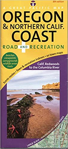 Oregon & Northern California Coast Road & Recreation Map, 8th ...