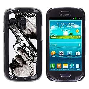Design for Girls Plastic Cover Case FOR Samsung Galaxy S3 MINI 8190 Veritas Gun Truth Slogan Quote Man Hands OBBA