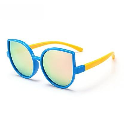 Niños Personalidad Ojos de Gato Niños y niñas Gafas de Sol polarizadas Flexibles con Caja Protección