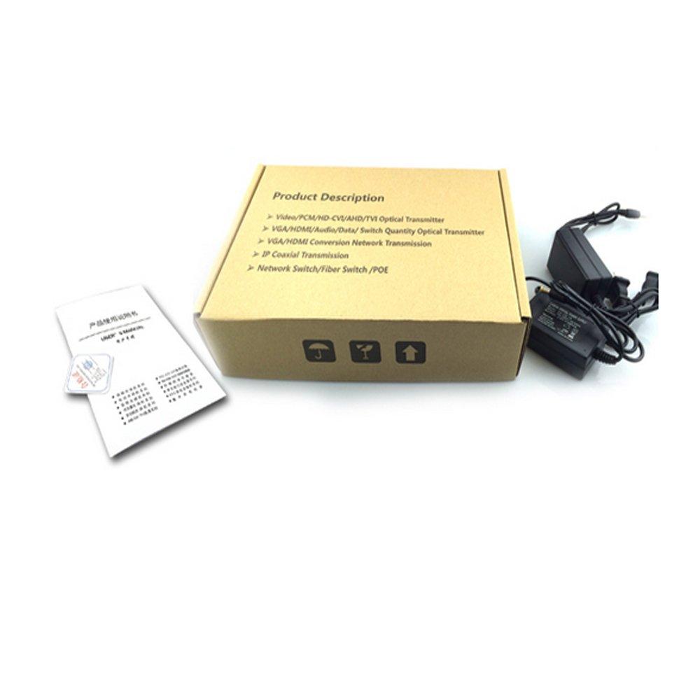 Guantai 960P/720P HD CVI AHD TVI 8 Channels Video Fiber Optical Media Converters with Data ,FC, Singlemode 20Km for 960p 720p AHD CVI TVI HD CCTV by Guantai