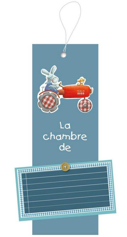 Titoutam T0990 Plaque de Porte Personnalisable Gaston Bleu