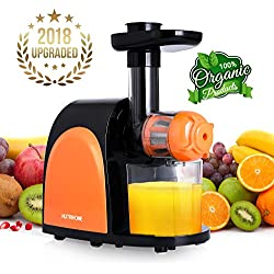 Juicer Slow Masticating Juicer Extractor,Cold Press Juicer Machine, Slow Juicer Extractor with juice jug,Quiet Motor & Reverse Function, Easy to Clean with Brush ,Higher Nutrient Fruit and Vegetable juice