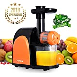 Juicer Slow Masticating Juicer Extractor,Cold Press Juicer Machine, Slow Juicer Extractor with Quiet Motor & Reverse Function,Easy to Clean,Higher Nutrient Fruit and Vegetable juice