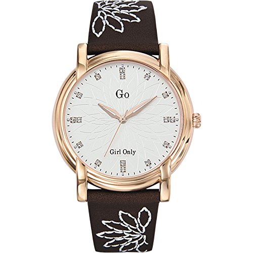 GO Girl Only 697771 - Reloj analógico de cuarzo para mujer con correa de piel, color marrón: Amazon.es: Relojes