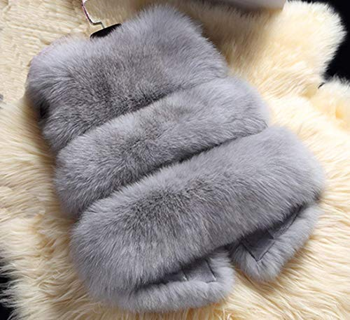 Fourrure Qualité Warm Doux Automne Rouge Hiver Haute Épaisseur Outerwear Femme De Gilet Unicolore Synthétique Confortable Lounayy Blouson Elégante Manches Sans f6EIqxF
