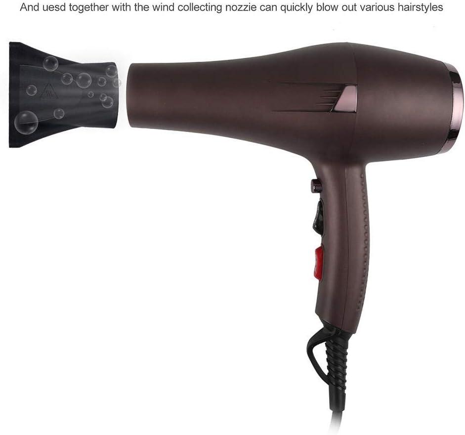 Salón de baño de alta potencia Secador de pelo especial Salón profesional Soplado Conservación de energía fría Secador de pelo frío y caliente, marrón