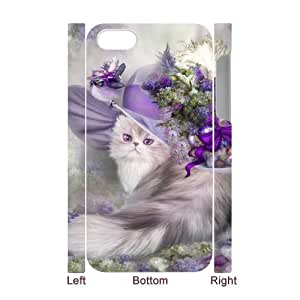 Iphone 4,4S CAT 3D Art Print Design Phone Back Case DIY Hard Shell Protection FG060526