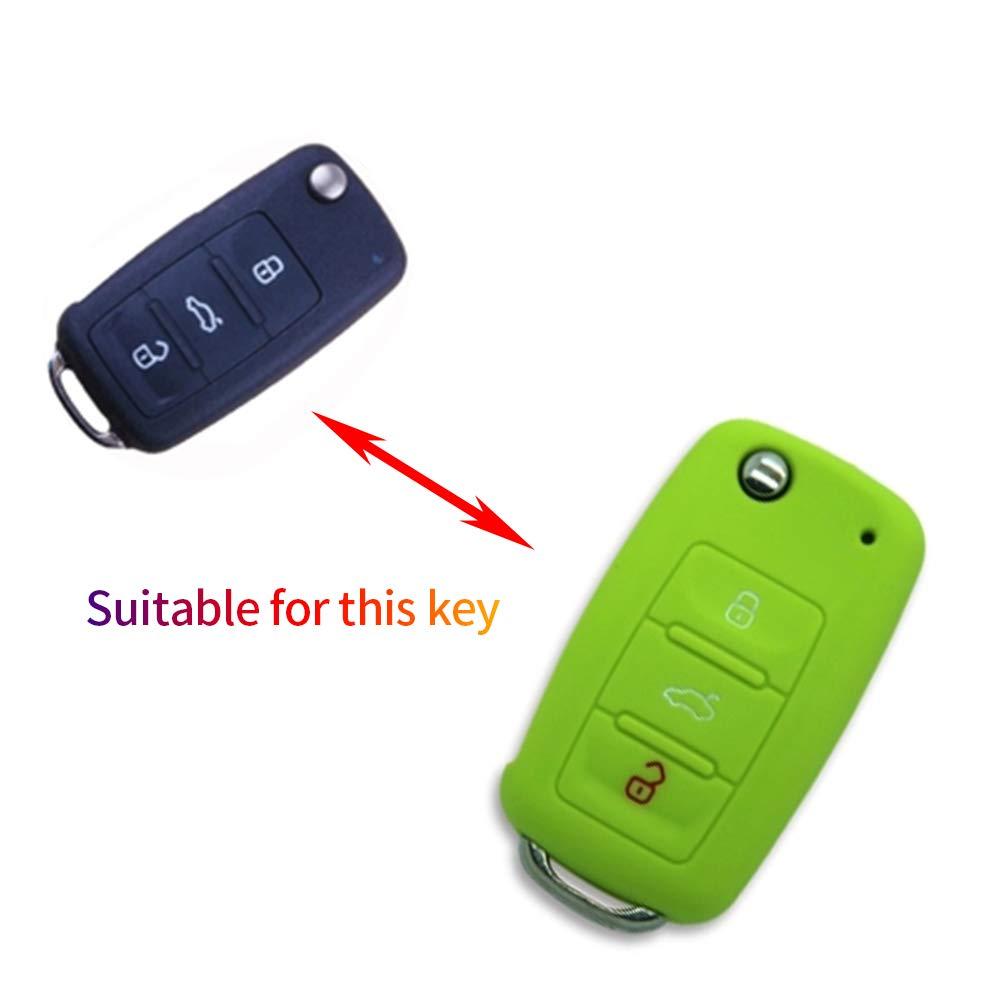 Amazon.com: Maite 3 Buttons Silicone Key Fob Cover Remote ...