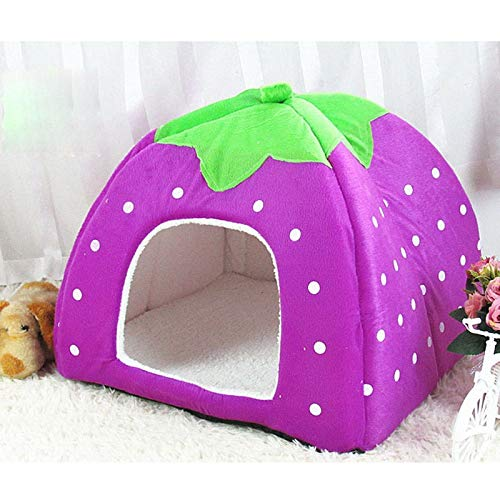 CZHCFF Cute dog bed room winter cat bed foldable dog house for puppy