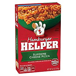 Betty Crocker Hamburger Helper, Supreme Cheese Pizza Hamburger Helper, 6.2 Oz. Box
