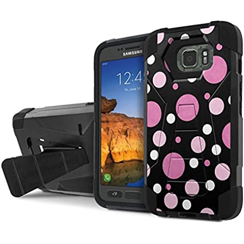 AT&T [Galaxy S7 Active] Armor Case [NakedShield] [Black/Black] Tough ShockProof [Kickstand] Phone Case - [Purple Sales