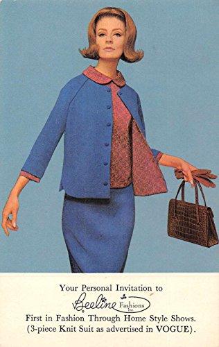 Beeline Fashion Show Vogue Knit Suit Advertising Vintage Postcard J69851