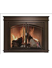 pleasant hearth fn5702 fenwick fireplace glass door oil rubbed bronze large