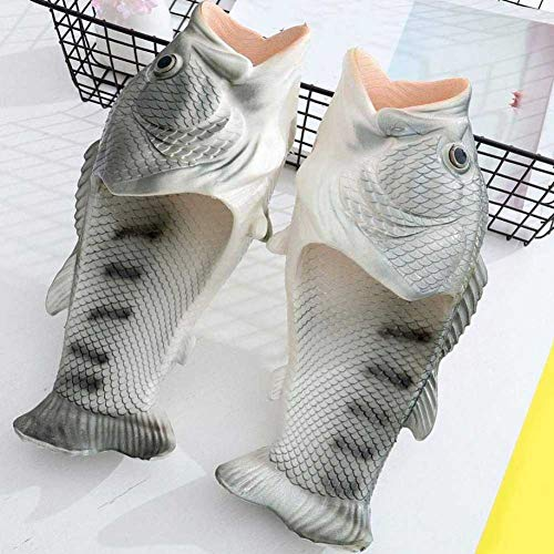 Slippers Men Fish Flops Slides Shoes Quickshark Sandals Flip Sliver Creative Gag Fish Gifts Women Beach aZHx5wq