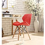 Household Table Back Wooden Chair, Casual net red Chair, Adult Dining Chair, Ergonomic Design, Kitchen Living Room Bedroom Stool,SHPEHP-red