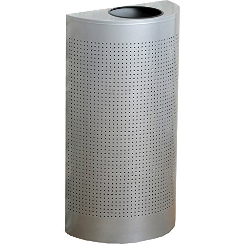 Rubbermaid Commercial Open Top Half Round Waste Can - 12 gal
