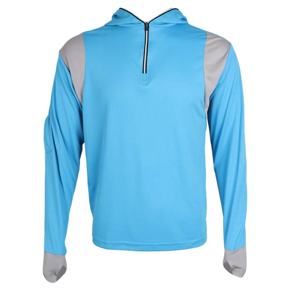 Baoblaze Sudadera de Capucha Ropa Azul Ligera Camiseta Accesorio de Pesca para Hombres